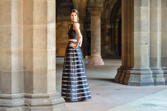Thankfifi- David's Bridal, Glasgow - prom stripe 2 piece dress-3
