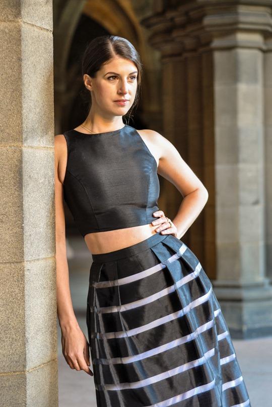 Thankfifi- David's Bridal, Glasgow - prom stripe 2 piece dress-4