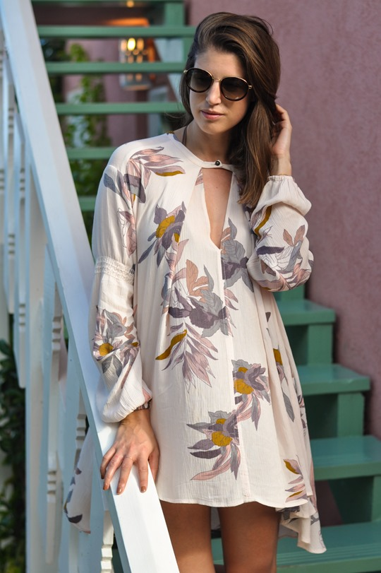 Thankfifi - Free People Electric Orchid Swing Tunic - Cobblers Cove Barbados-4