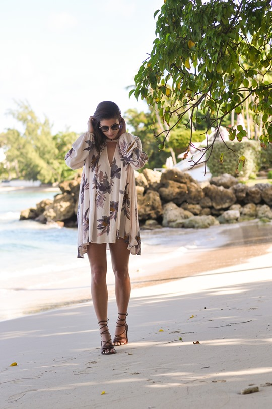 Thankfifi - Free People Electric Orchid Swing Tunic - Cobblers Cove Barbados-8