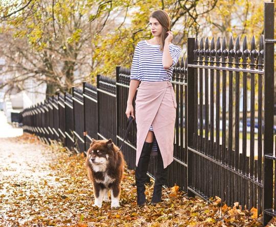 Thankfifi- Winter layers - skirt over dress-2