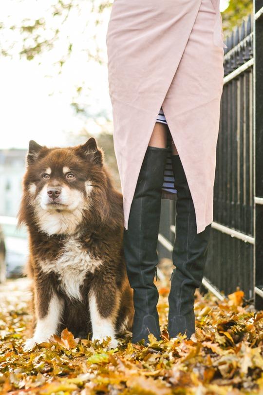 Thankfifi- Winter layers - skirt over dress-5