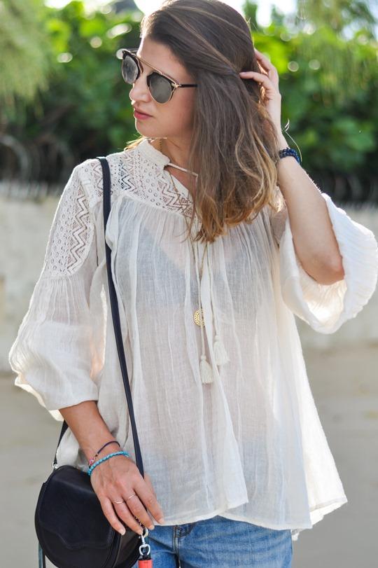 Thankfifi- Zalando Denim & Supply boho blouse & Rebecca Minkoff tassel bag - Cobblers Cove, Barbados-12