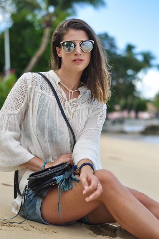 Thankfifi- Zalando Denim & Supply boho blouse & Rebecca Minkoff tassel bag - Cobblers Cove, Barbados-16