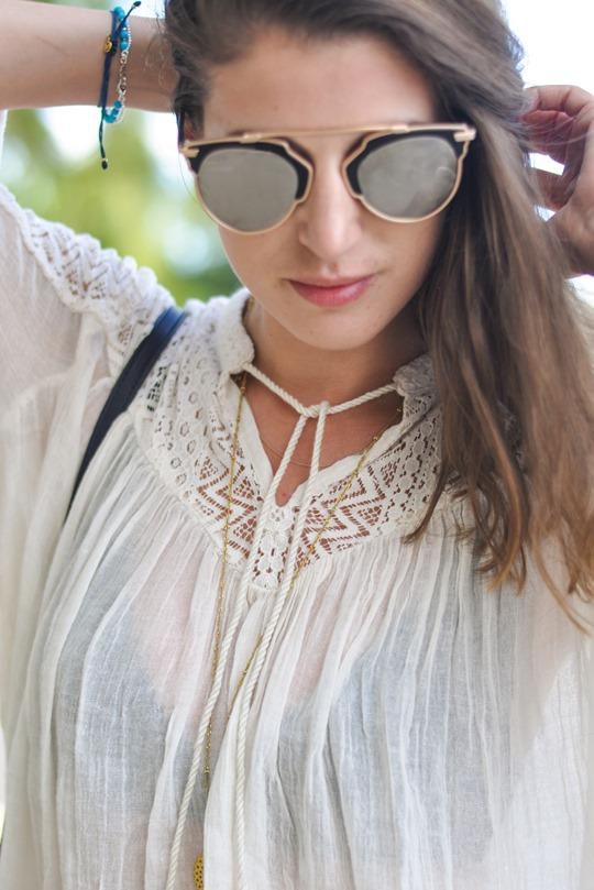 Thankfifi- Zalando Denim & Supply boho blouse & Rebecca Minkoff tassel bag - Cobblers Cove, Barbados-10