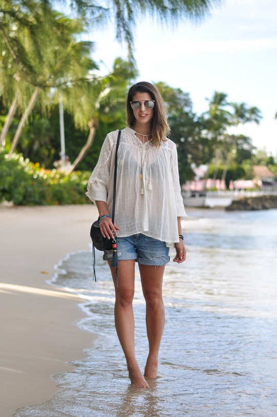 Thankfifi- Zalando Denim & Supply boho blouse & Rebecca Minkoff tassel bag - Cobblers Cove, Barbados-4