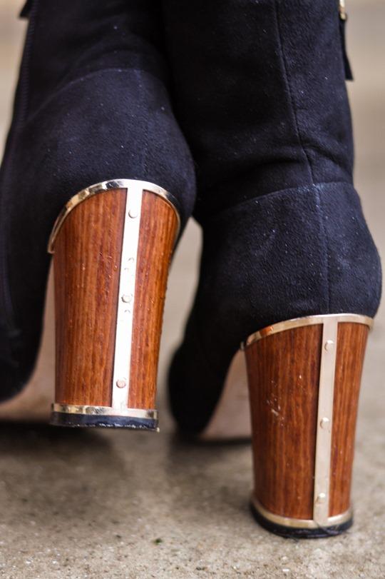 Thankfifi- leather skirt over leather pants & Reiss Sahara bag-11