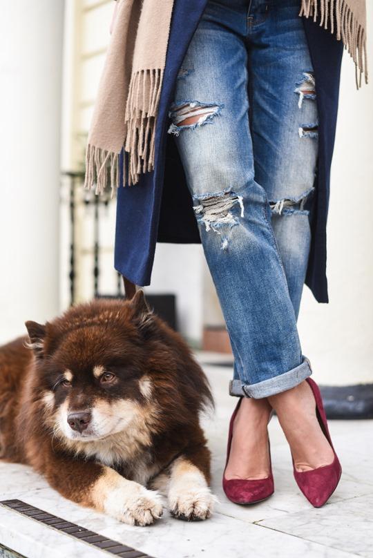 American Eagle ripped boyfriend jeans - winter layers by Thankfifi, a Scottish fashion blog-3