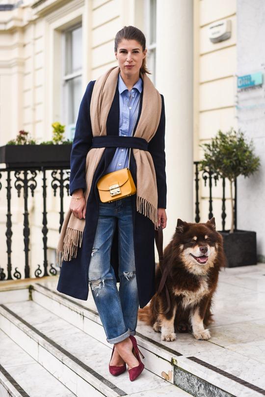 American Eagle ripped boyfriend jeans - winter layers by Thankfifi, a Scottish fashion blog