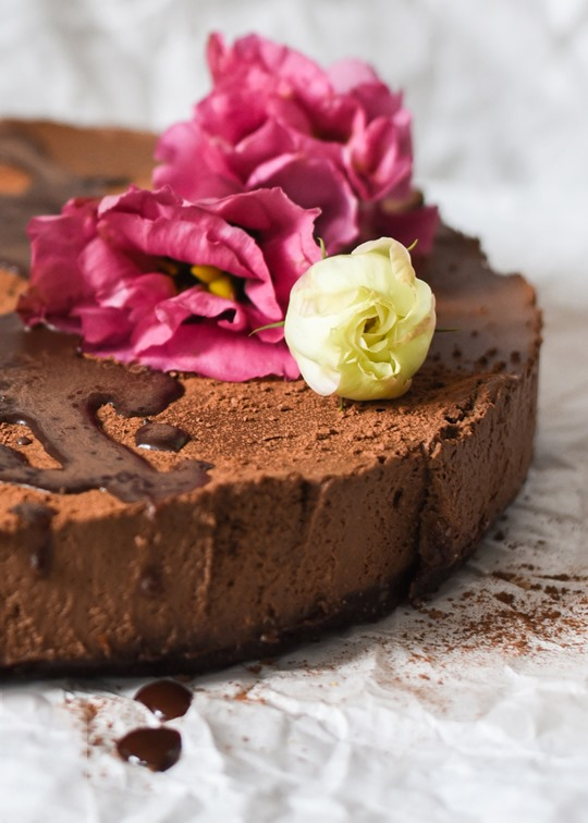 Raw Chocolate Mousse Cake - cashew & coconut, vegan recipe - by Thankfifi-10