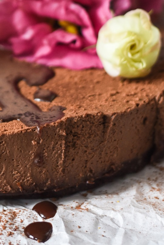 Raw Chocolate Mousse Cake - cashew & coconut, vegan recipe - by Thankfifi-4...