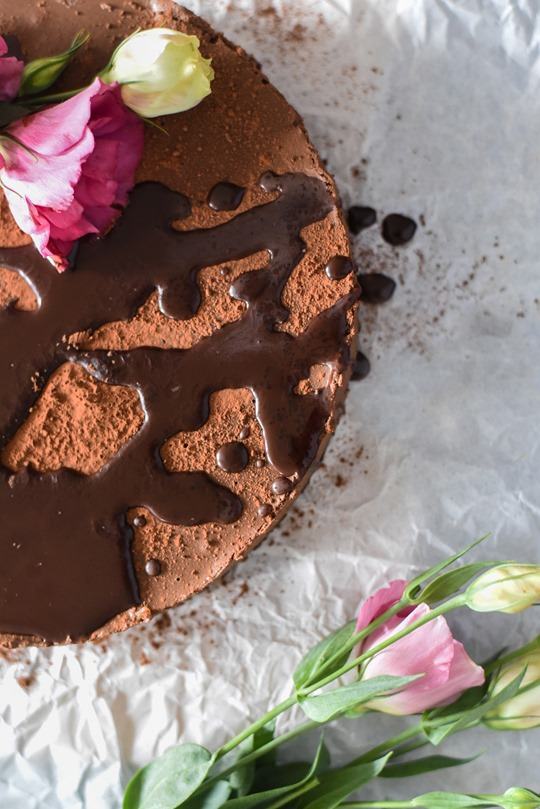 Raw Chocolate Mousse Cake - cashew & coconut, vegan recipe - by Thankfifi