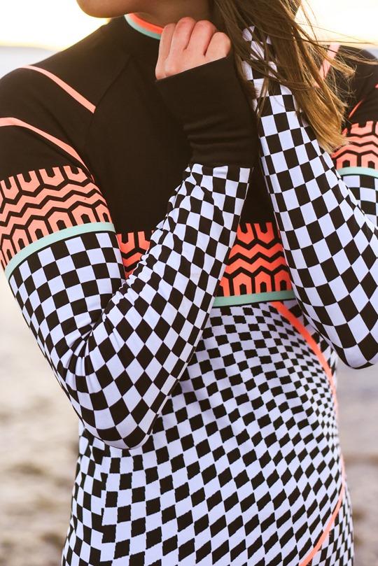 Thankfifi - Beach running in Sweaty Betty base layers, Troon beach-14