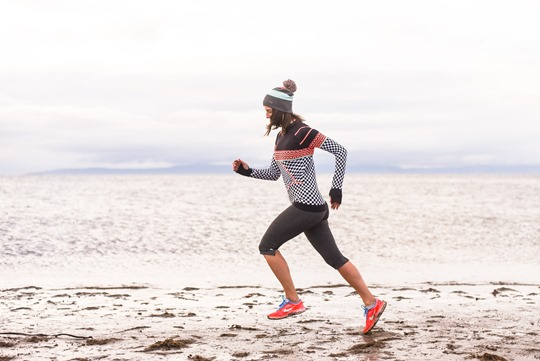 Thankfifi - Beach running in Sweaty Betty base layers, Troon beach-3-2