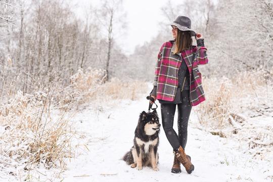 Thankfifi- Boden Zoe coat & Michael Kors Jet Set black bag, Mugdock country park-3