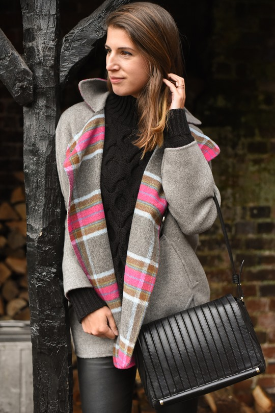 Thankfifi- Boden Zoe coat, Reiss Sahara bag & cable knit-3