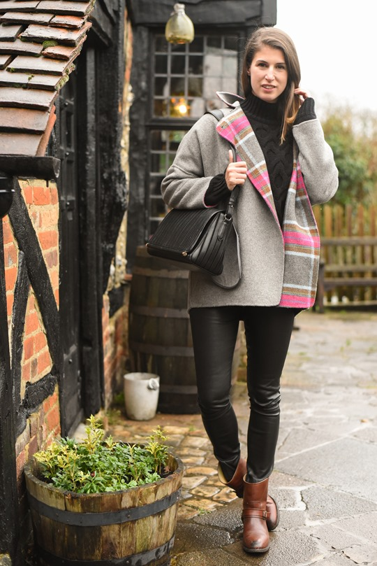 Thankfifi- Boden Zoe coat, Reiss Sahara bag & cable knit-8