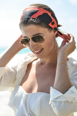 Thankfifi - Crane beach in Burberry head scarf-4
