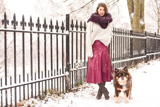 Thankfifi- LK Bennett Delfine leather midi skirt & Knit Knot Knit snood-12