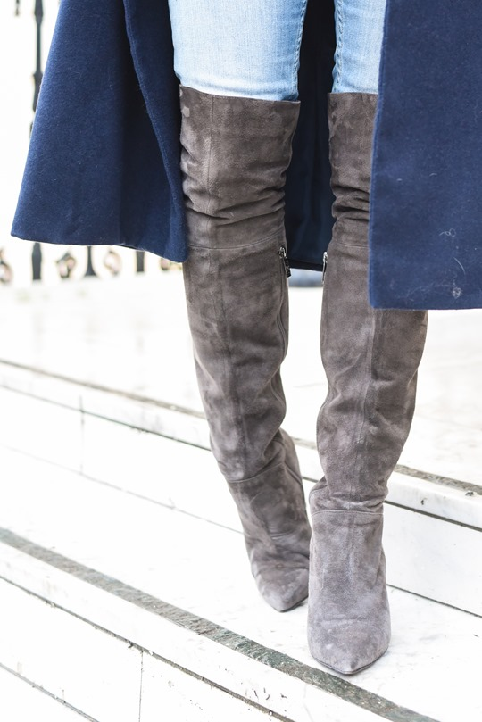 Thankfifi- Ted & Muffy over the knee Acantha grey suede boots-8.