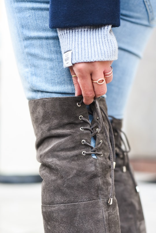 Thankfifi- Ted & Muffy over the knee Acantha grey suede boots-9
