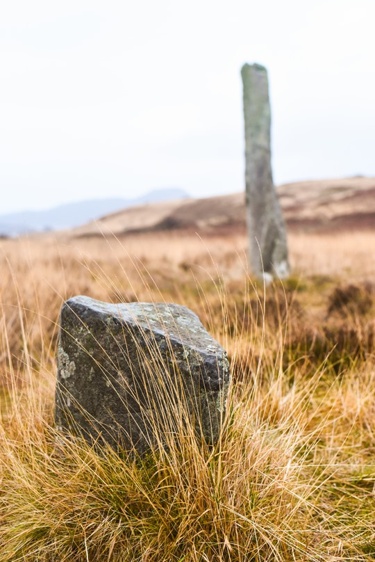 2000BC monolith - Hiking Scotland from Portavadie to Low Stillaig - Thankfifi