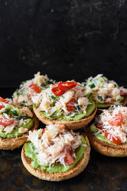 Avocado chilli crab toasts - recipe by Thankfifi-6