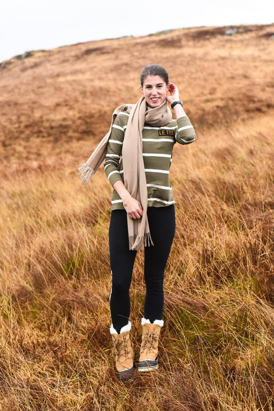 Hiking Scotland in Sorel Caribou boots - Thankfifi