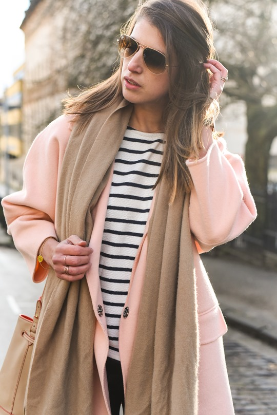 Peach cocoon coat, Banana Republic - street style by Thankfifi-11