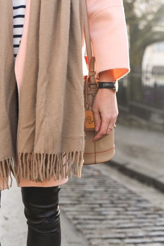 Peach cocoon coat, Banana Republic - street style by Thankfifi-12