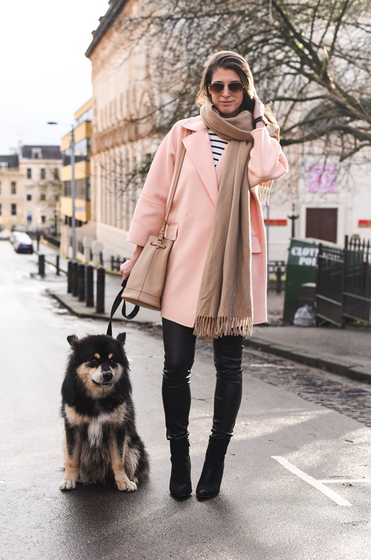 Peach cocoon coat, Banana Republic - street style by Thankfifi-2