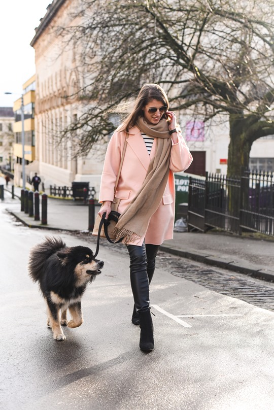 Peach cocoon coat, Banana Republic - street style by Thankfifi-3