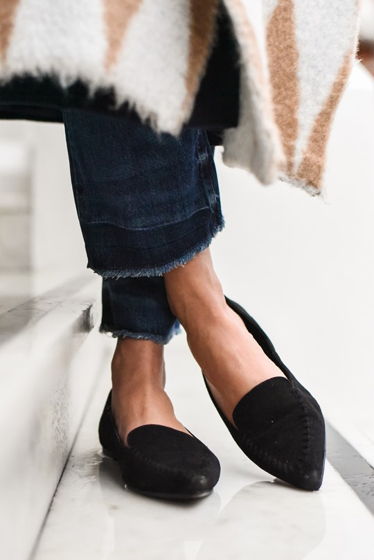 Perfect point black suede flats - Thankfifi
