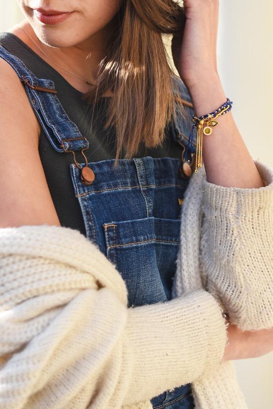 H&M Trend cropped denim dungarees - Thankfifi-5