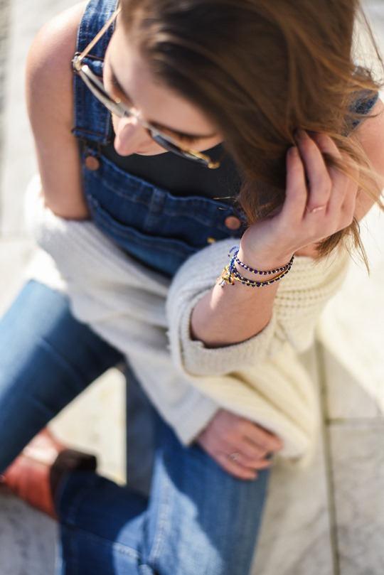 H&M Trend cropped denim dungarees - Thankfifi-8