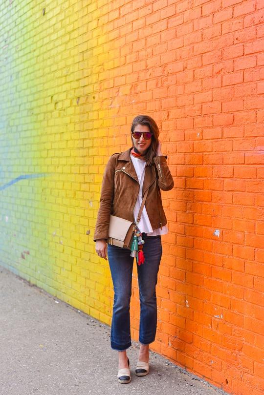Ombre rainbow grafitti wall, Dumbo, Brooklyn - Thankfifi travel style-2