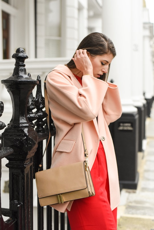 Peachy Banana Republic cocoon coat & Reiss Marcel bag - Thankfifi-3