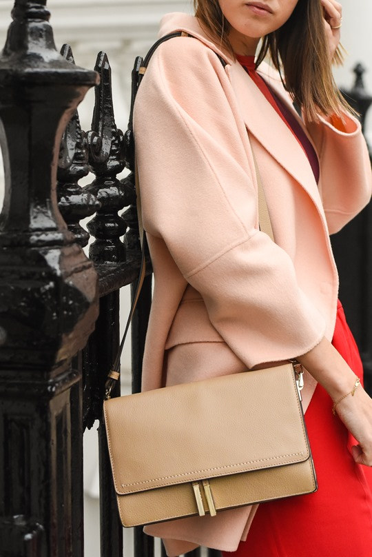 Peachy Banana Republic cocoon coat & Reiss Marcel bag - Thankfifi-4