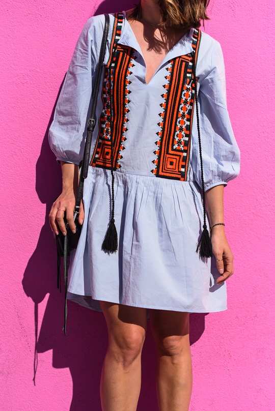 H&M embroidered folk dress - Thankfifi LA Travel Diary-5