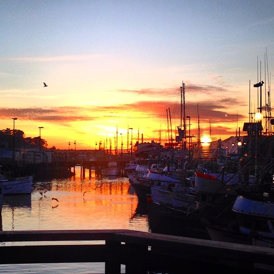 Sunset over Fisherman's Wharf - Thankfifi San Francisco Travel Diary