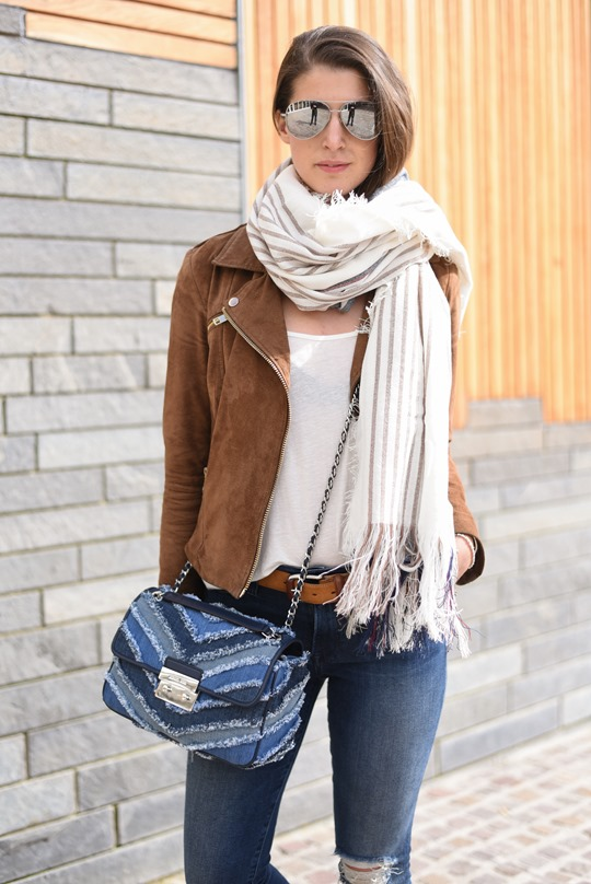 Travel style - Michael Kors denim bag - Thankfifi-3