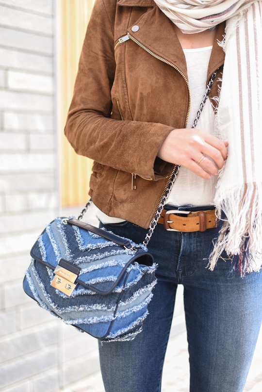 Travel style - Michael Kors denim bag - Thankfifi-6