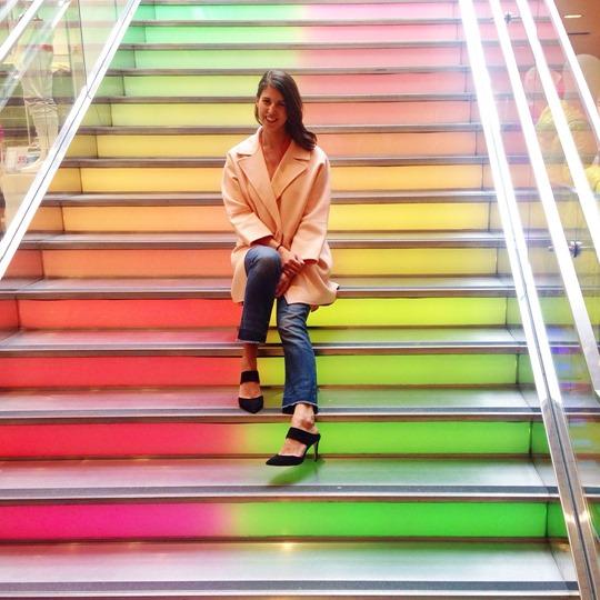 Uniqlo rainbow stairs - Thankfifi San Francisco Travel Diary-4