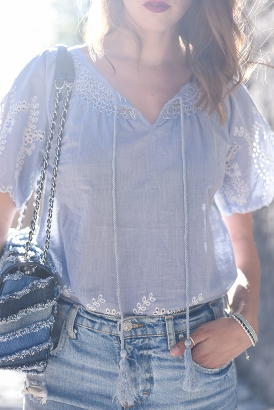 BHS broderie anglaise chambray top super ripped jeans - Thankfifi, Scottish fashion blog-13