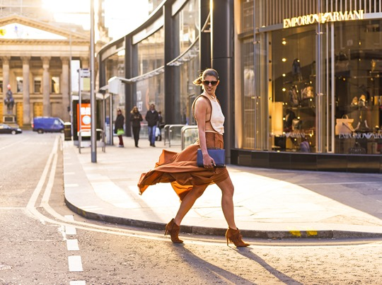 Emporio Armani SS16 backless shirt and tan split midi skirt - Thankfifi on Ingram Street Glasgow-17