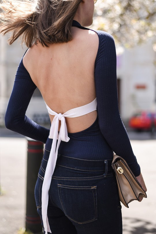 H&M Trend Celine copy backless bow top - Thankfifi - Scottish fashion blog-12