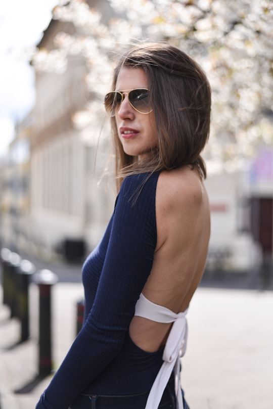H&M Trend Celine copy backless bow top - Thankfifi - Scottish fashion blog-4