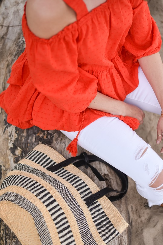 Jigsaw x The Basket Room & J Brand white Demented Jeans - Thankfifi, Scottish fashion blog-3