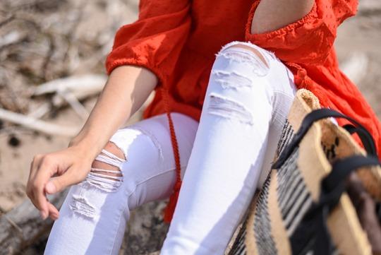Jigsaw x The Basket Room & J Brand white Demented Jeans - Thankfifi, Scottish fashion blog-5
