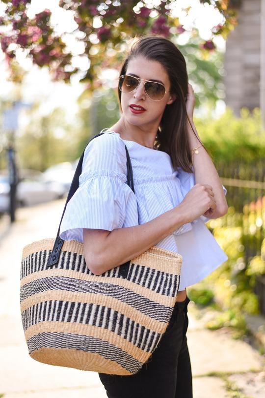 Jigsaw x The Basket woven bag - Thankfifi, Scottish fashion blog-2